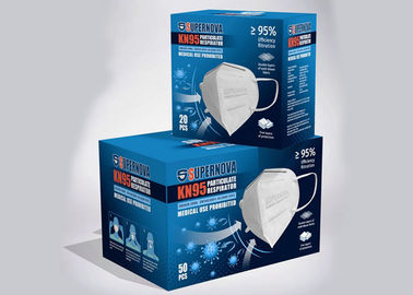 Earloop N95 FFP2 Respirator Anti Virus High مرونة عالية Earpieces CE FDA FFP2